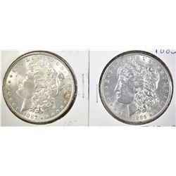 1885 & 87 CH BU MORGAN DOLLARS
