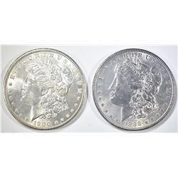 1888 & 1900 CH BU MORGAN DOLLARS