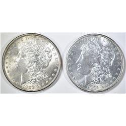 2-CH BU 1902-O MORGAN DOLLARS