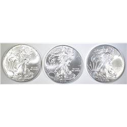 3-GEM BU 2010 AMERICAN SILVER EAGLES