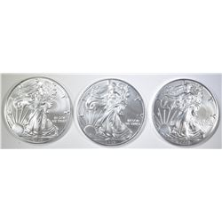 3-GEM BU 2019 AMERICAN SILVER EAGLES