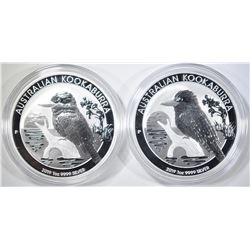 2-2019 AUSTRALIA 1oz SILVER KOOKABURRA COINS