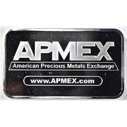 FIVE OUNCE SILVER BAR, AMPEX