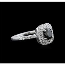 1.23 ctw Black Diamond Ring - 14KT White Gold