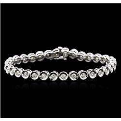 14KT White Gold 2.32 ctw Diamond Tennis Bracelet