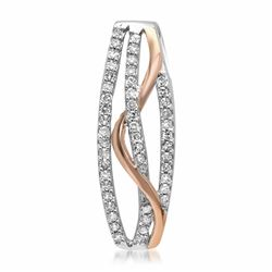 18k White/rose Gold 0.22CTW Diamond Pendant, (I1/H)
