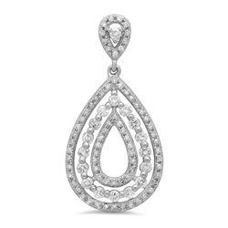 14k Gold 0.6CTW Diamond Pendant, (SI3/H)