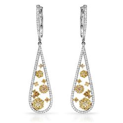 18k White Gold 1.86CTW Diamond Earring, (SI1-SI2/VS2-SI1/G-H)