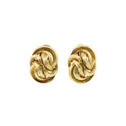 Tiffany and Company Gold Knot Earrings - 18KT Yellow Gold