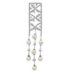 14k Gold 1.35CTW Pearl Pendant, (G-H)
