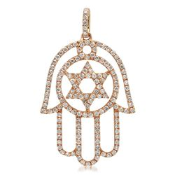 18k Rose Gold 0.60CTW Diamond Pendant, (I1-I2/G-H)