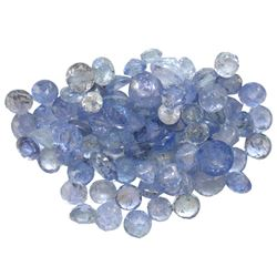11.93 ctw Round Mixed Tanzanite Parcel
