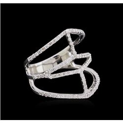 0.63 ctw Diamond Ring - 14KT White Gold