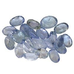 11.08 ctw Oval Mixed Tanzanite Parcel