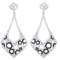 18k White Gold 3.52CTW Diamond Earring, (VS2 /G-H)