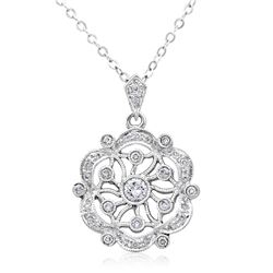 18k White Gold 0.35CTW Diamond Pendant, (I1-I2/H /H-I)