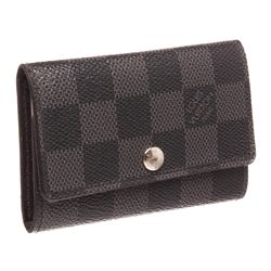 Louis Vuitton Damier Graphite 6 Key Holder Wallet