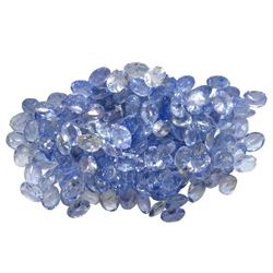 24.8 ctw Oval Mixed Tanzanite Parcel