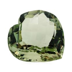 13.27 ct. Natural Heart Shape Cut Green Quartz