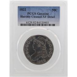 1822 Capped Bust Half Dollar Coin PCGS XF Detail