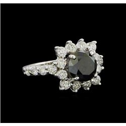 4.75 ctw Black Diamond Ring - 14KT White Gold