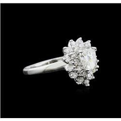 1.55 ctw Diamond Ring - 14KT White Gold
