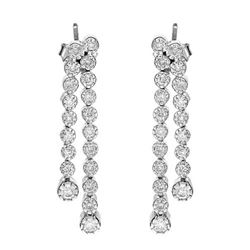 14k White Gold 0.98CTW Diamond Earring, (I1-I2/H-I)