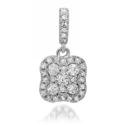 14k Gold 0.39CTW Diamond Pendant, (SI3/H)