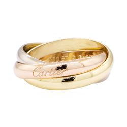 Cartier Tri-Color Rolling Ring - 18KT Yellow, Rose and White Gold