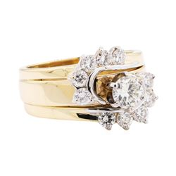 1.34 ctw Diamond Ring - 14KT Yellow And White Gold