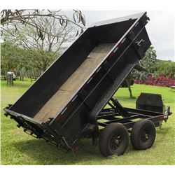 2018 Heavy Duty Dump Trailer w/ Ramps 10' L, 6' W (Works Great - See Video)