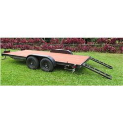 2019 Heavy Duty Auto/Equipment Trailer w/ Ramps 16' L, 6' W (Works Great - See Video)