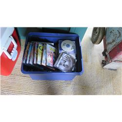 Bin of DVD Movies, CD's - Taxi, Hit & Run, etc