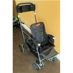 Joovy Caboose Double Ultralight Baby Stroller with Stand on Design & Storage
