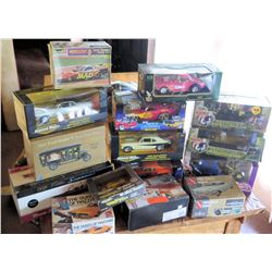 Multiple Misc Collectible Cars in Box - Model T, Dukes of Hazzard, etc