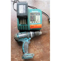 Makita DC18BA Concrete Steel BHP452 Hammer Drill w/ Charger