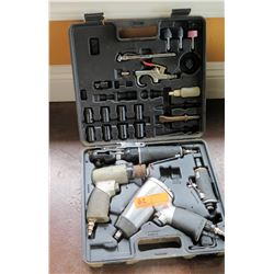 Husky Air Tool Set in Case - Impact Wrench, Ratchet, Chisel, etc