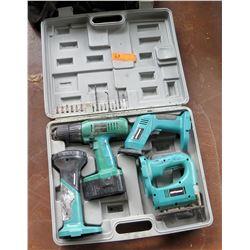 Craftsman Powermate Tool Set (Incomplete) -Jig-Saw, Impact Wrench, Etc