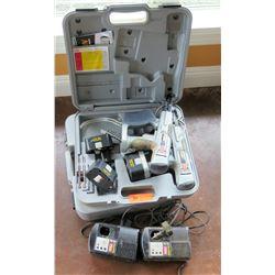 Qty 2 Senco Duraspin 14.4V Screw Guns w/ Case & Battery
