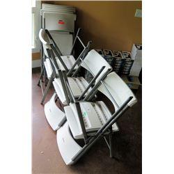 12 Metal & Plastic Folding Chairs