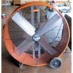 Max Air Pro Industrial Round Shop Fan on Wheels