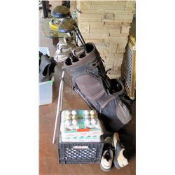 Golf Clubs - RamFX5 Titanium, White Steel with crate of over 350 golf balls.