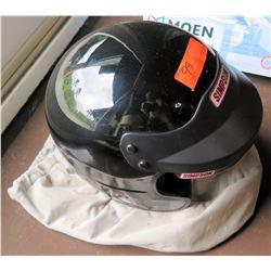 Simpson Black Full Face Motorcycle Helmet