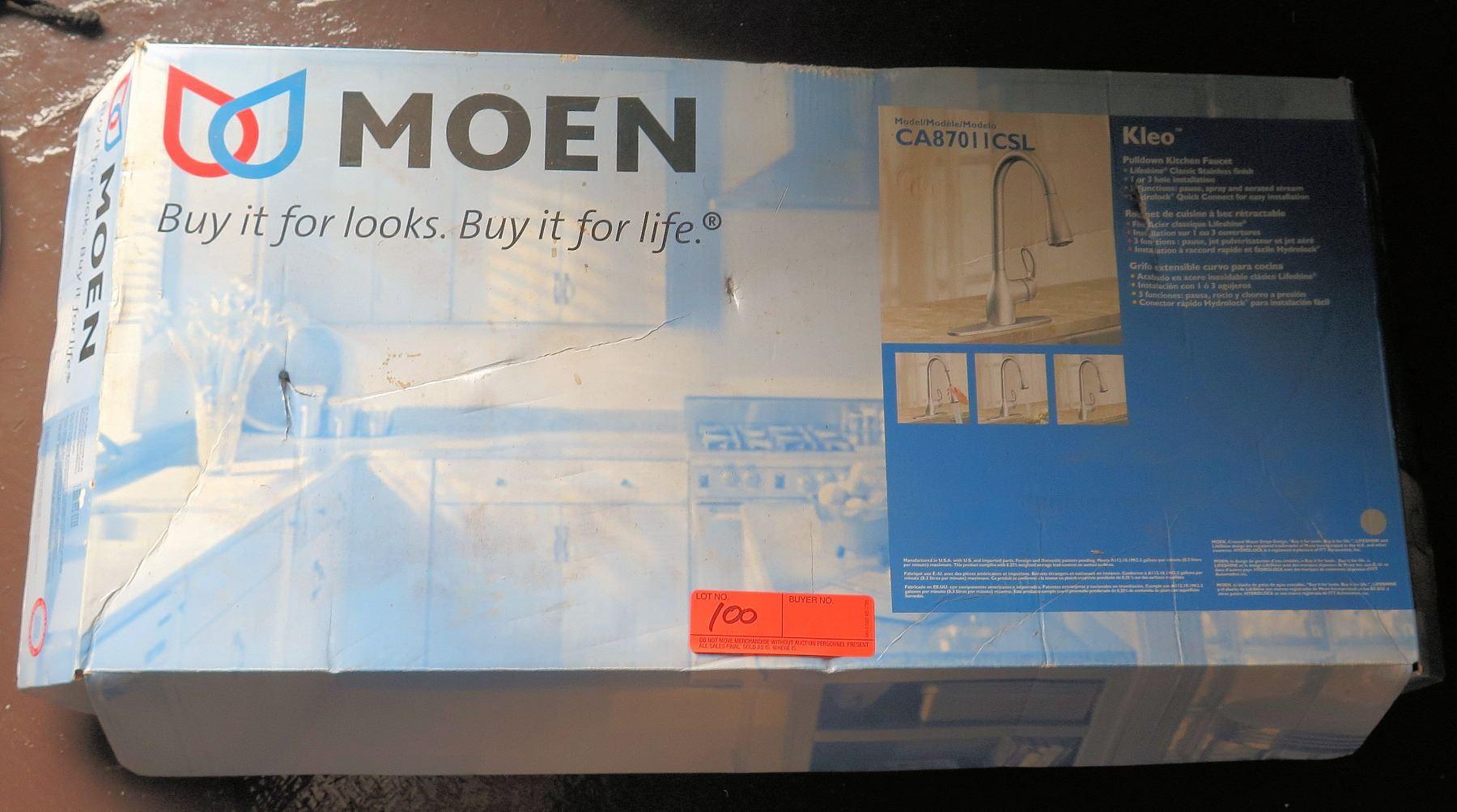 Moen Kleo Model CA87011CSL Pull Down Kitchen Faucet in Box ...