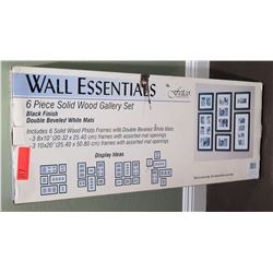 Wall Essentials 6 Piece Solid Wood Gallery Set Photo Frames in Box