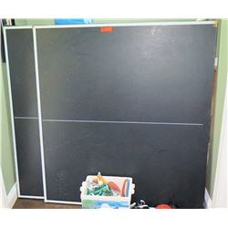 Ping Pong Table w/ Bin of Nets, Paddles, Balls, Accessories, etc