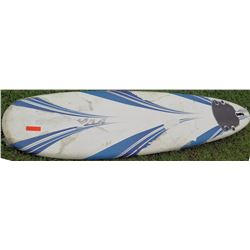 White Blue Stand Up Paddle Board SUP w/ 3 Fins