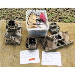 Holley 4BBL Double Pumpers, Mopar Aluminum Manifold & Rebuild Kits