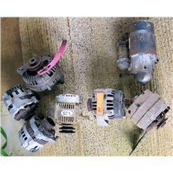 Qty 6 Alternators & 1 Starter