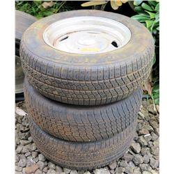 Qty 3 General Amer-TC 215/65R15 Tires on Rims